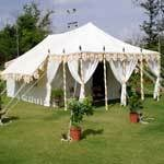 Meticulously Carved Traditional Tents