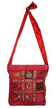 Embroidered Ladies Shoulder Bags