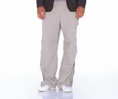 Grey Cotton Cargo Pants