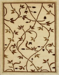Beige Embroidered Carpets