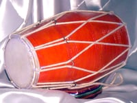 Wooden Round Musical Dholak