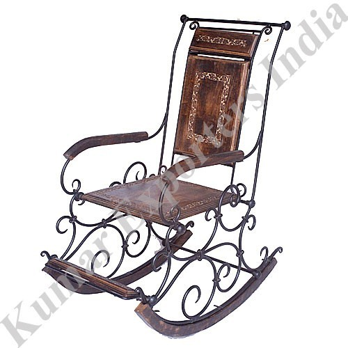 Antique Wrought Iron Rocking Chairs In East Of Kailash