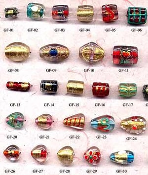 Colorful Gold Foil Beads