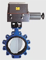 Actuator Mounted Quarter Turn Motorised Butterfly Valves