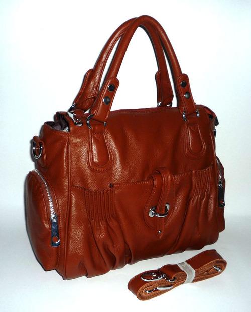 Womens Plain Leather Handbags