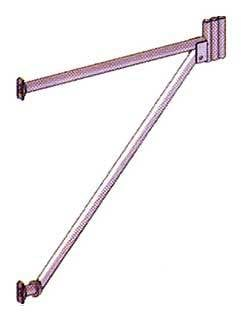 Cantilever Frame With Cup Joint And Adjustable Jack
