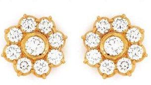 6f5c8beeb31b3 Traditional Nine Stone Diamond Earrings in Chennai, Tamil Nadu - GRT ...