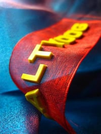 Red Color Silicon Badges