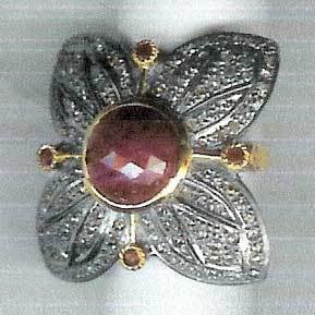 Semi Precious Stones Victorian Rings  Size: Various Sizes Are Available