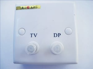 Terminal Box For Cable Television And Data Processing