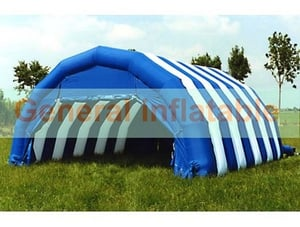 White and Blue PVC Inflatable Tents