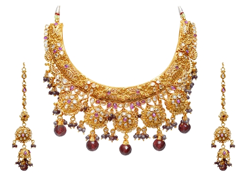 bridal heavy shop necklace craftsvilla online buy gold beautiful set plated