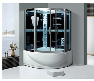 Toughened Glass Steamed Shower Cabin