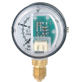 Pressure Gauge With Stepped Electrical Output Signal