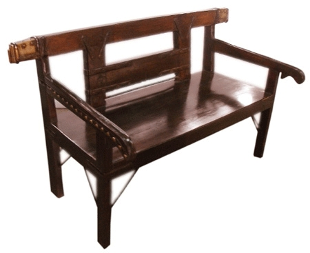 Brown Color Wooden Bench