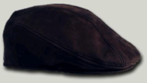 Dark Brown Leather Round Driving Hats