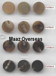 Multi Color Buffalo Horn Button Blanks