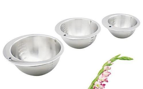 Silver Stainless Steel Measuring Bowls