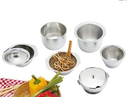 Silver Stainless Steel Round Bowls