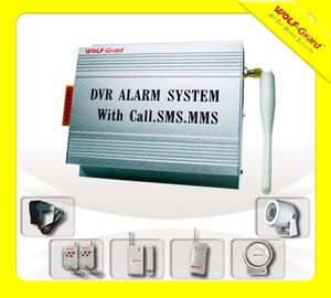 GSM DVR Intruder Alarm with Call & SMS & MMS Function