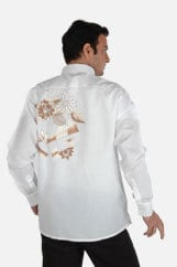 Embroidered White Shirts
