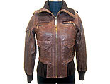Women Ladies Brown Leather Jackets