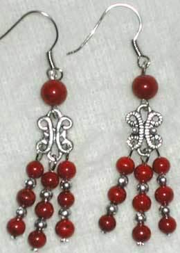 Ladies Sterling Silver Earring