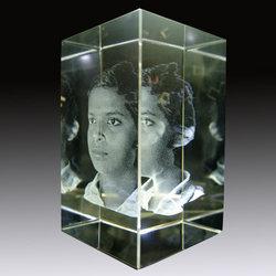 3D Face Crystal Glass