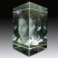3D Face Crystal Glass