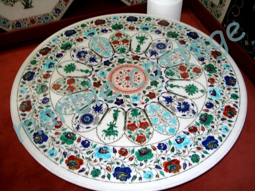 Surprising Marble Inlay Table Top In Agra Uttar Pradesh Marble Cottage Download Free Architecture Designs Scobabritishbridgeorg