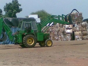 Paper Bale Grappler With Backhoe