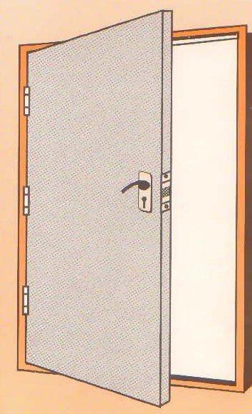 Pressed Steel Metal Door