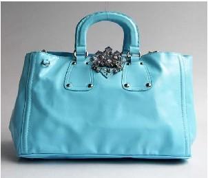 Nappa Leather Top Handle Handbag