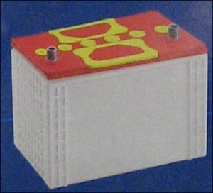 P.P. Battery Container (N-50 Butterfly Lid)