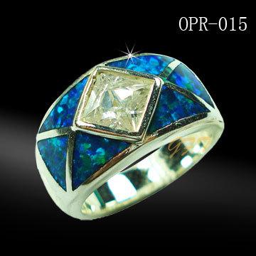 Sterling Silver Opal Rings