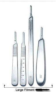 Large Fitment Surgical Knife Handles