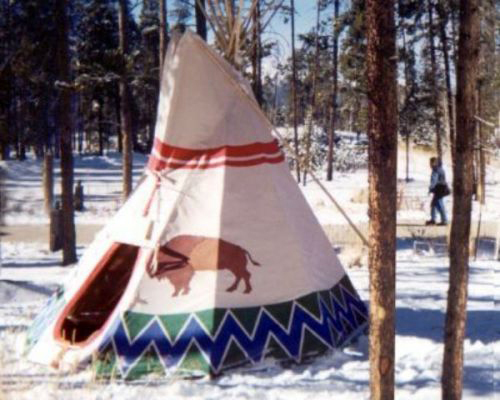 Painted Tipi Tents