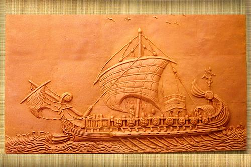 Terracotta Mural Ship Tile At Best Price In Kolkata