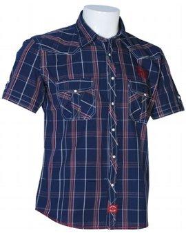 Mens Casual Yarn Dyed Checks Shirts