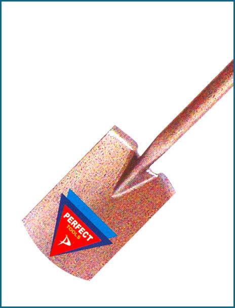 Border Spade Long Socket Shoulder Type With Plastic Shaft