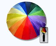 Men Multicolored Umbrellas