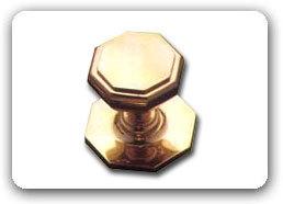 Hexagonal Center Door Knob