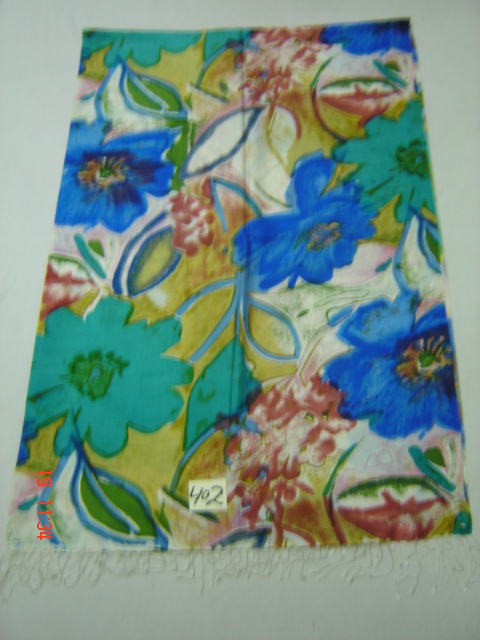 Pure Silk With Multi Color Floral Print Shawl