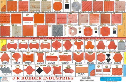 Rubber Moulds For Designer Tiles And Pavin Block