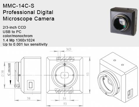 1.4 MP Digital High Sensitive CCD Camera