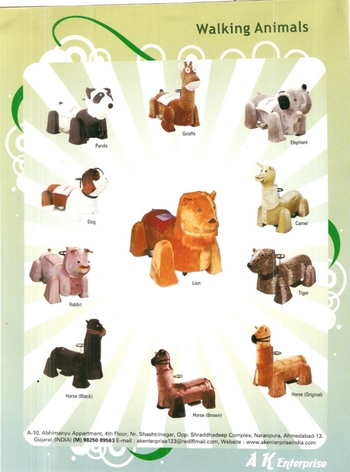 BATTERY OPERATED WALKING ANIMALS