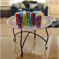 Designer Moroccan Table Without Glasses