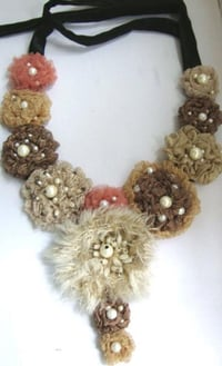 Handmade Fabric Fashion Necklace