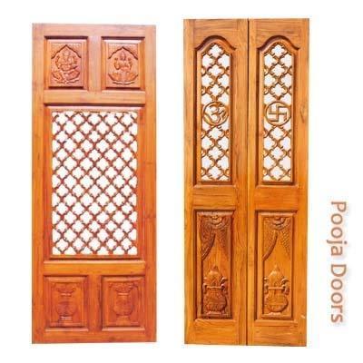 Pooja Doors With Carvings in Bowenpally  sc 1 st  TradeIndia & Pooja Doors With Carvings in Secunderabad Telangana - RENUKA TIMBERS