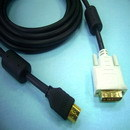 HDMI A Type To DVI-I(Dual Link) Cable